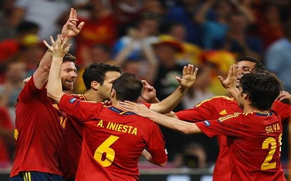 Spain vs France - Euro 2012
