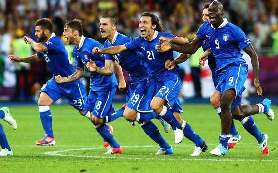 Italy celebrating