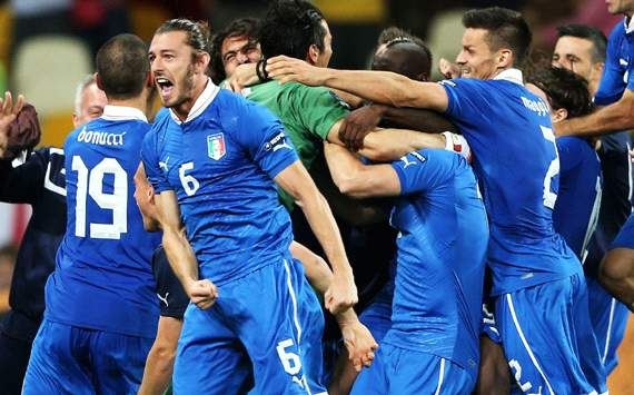 Italy celebrating