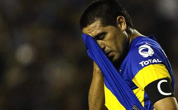 194558hp2 Entre lgrimas, Riquelme dice adis a Boca   juan roman riquelme Corinthians Copa Libertadores Boca Juniors 