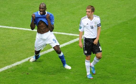 EURO 2012, Italy vs. Germany, Mario Balotelli, Philipp Lahm