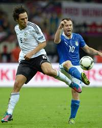 Germany - Italy, Mats Hummels and Antonio Cassano