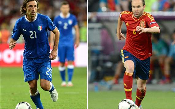 Pirlo & Iniesta the top-rated players ahead of Spain v Italy