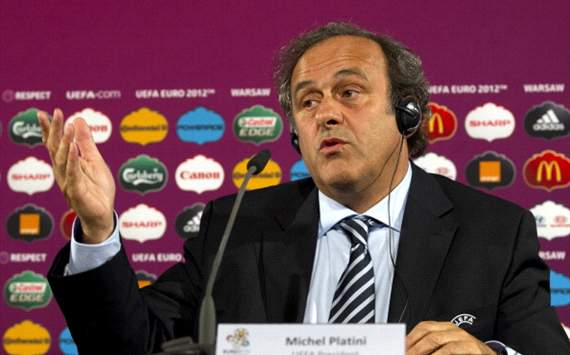 UEFA President Michel Platini attends the UEFA 2012 Kick-Off RESPECT Campaign official launch press conferenc