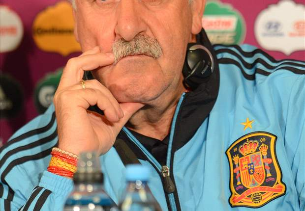 Del Bosque says Spain controlled the game following their 4-0 victory over Belarus