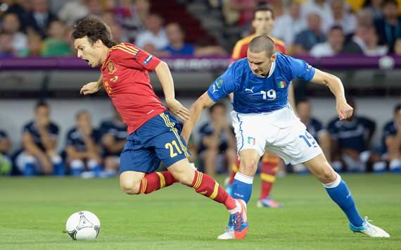 Leonardo Bonucci; David Silva - Spain vs Italy