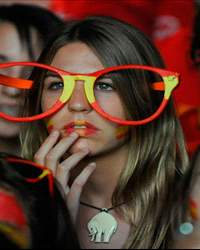 Spain Fans Watch The UEFA EURO 2012 Final Match