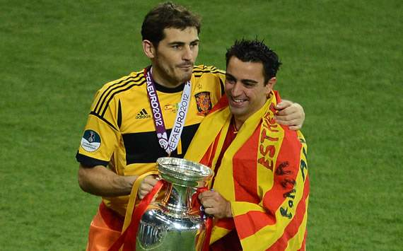 Iker Casillas, Xavi Hernandez, Spain