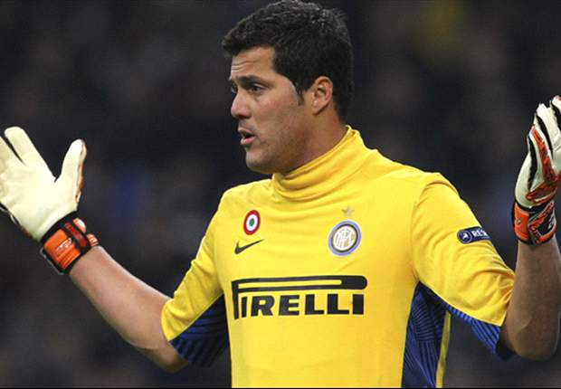 Inter goalkeeper Julio Cesar was offered to Palmeiras, says vice-president Roberto Frizzo