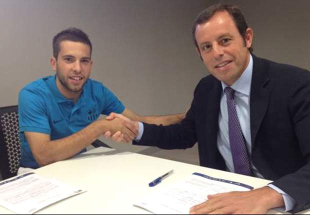 Barcelona officially sign Jordi Alba