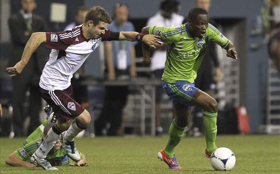 Drew Moor, Colorado Rapids; Steve Zakuani, Seattle Sounders FC; MLS