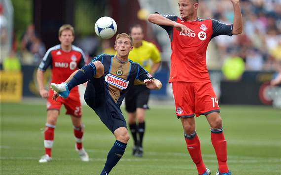Brian Carroll, Danny Koevermans; Philadelphia Union - Toronto FC