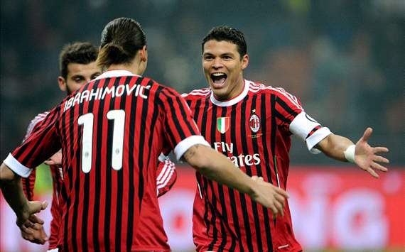 Zlatan Ibrahimovic and Thiago Silva - AC Milan vs. Chievo
