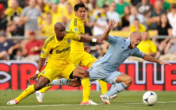Emilio Renteria, Columbus Crew; Aurelien Collin, Sporting Kansas City; MLS