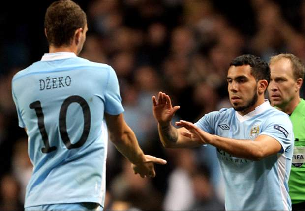 Mancini: Dzeko and Tevez are staying at Manchester City