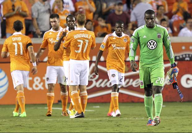 Houston Dynamo 4-0 D.C. United: Dynamo strikes four past 10-man visitors