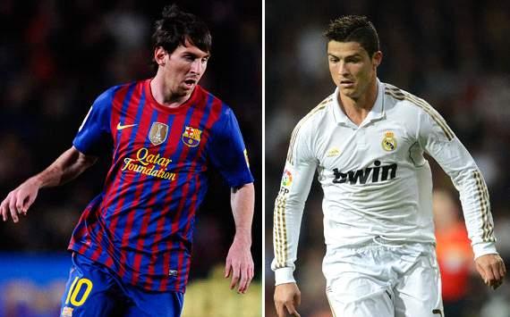 Lionel Messi, Barcelona; Cristiano Ronaldo, Real Madrid