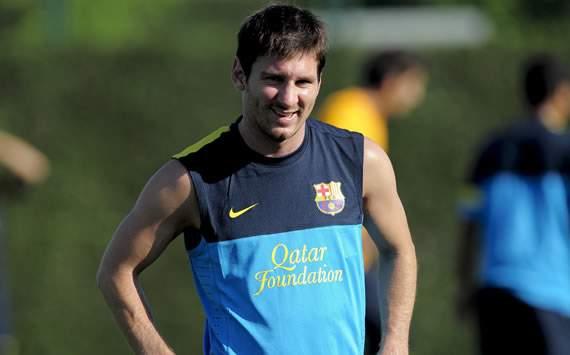 Lionel Messi, Barcelona training