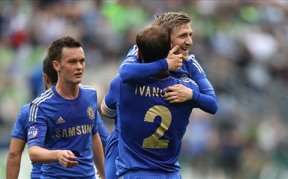 Branislav Ivanovic, Marko Marin, Chelsea - Seattle Sounders FC