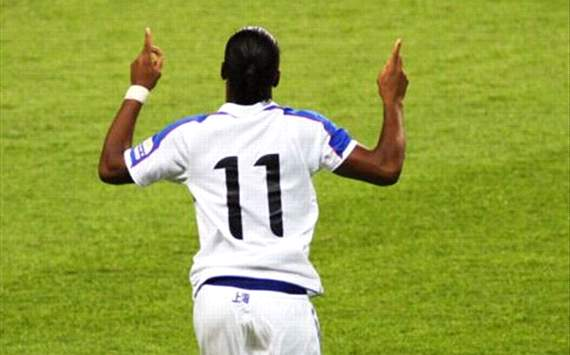 Drogba nets double for Shanghai