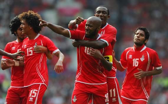 Olympics Day -1 - Men's Football - UAE v Uruguay, Ismaeil Matar and Ahmed Khalil