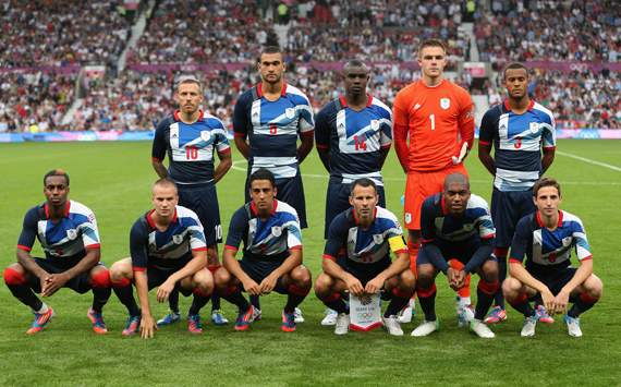Olympics Day -1 - Men's Football - Great Britain v Senegal, Team GB line up