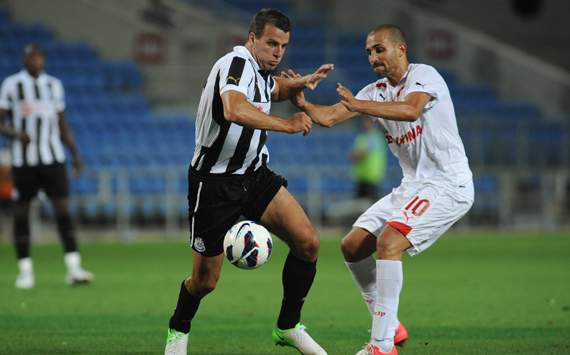Friendly - Newcastle United vs Olympiacos, Steven Taylor &amp; Rafik Zoheir Djebbour