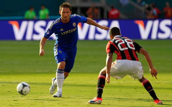 Friendly - AC Milan v Chelsea, Urby Emanuelson &amp; Frank Lampard