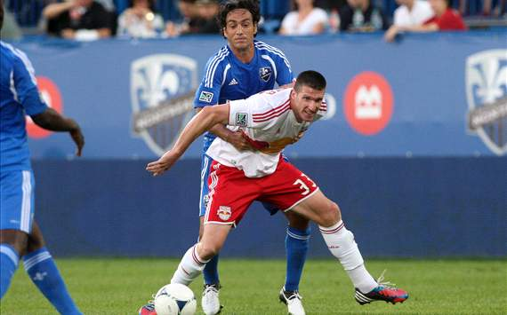 Kenny Cooper, New York Red Bulls; Alessandro Nesta, Montreal Impact; MLS