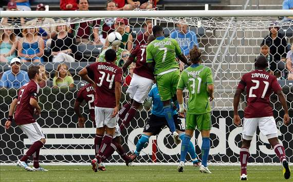 Eddie Johnson, Omar Cummings; Seattle Sounders - Colorado Rapids