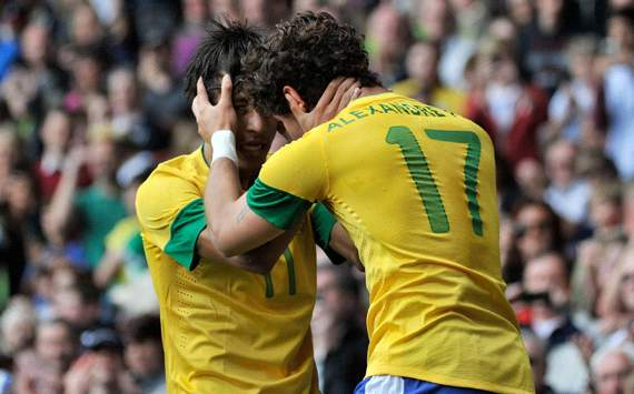 Olympics:   Neymar - Alexandre Prato, Brazil v Belarus
