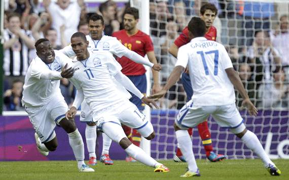 Olympics:   Jerry Bengtson, Spain v Honduras