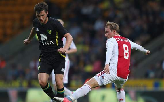 Pre Season Friendly - Norwich City v Ajax, Jonny Howson and Christian Eriksen