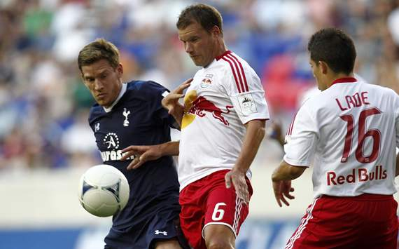 Tottenham Hotspur v New York Red Bulls,  Jan Vertonghen and Teemu Tainio