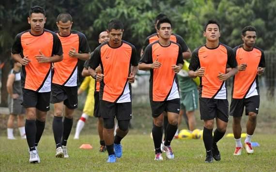 Latihan Timnas Indonesia (GOAL.com/Antara)