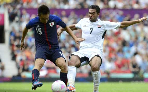 Ahmed Fathi in Egypt under 23 Vs Japan under 23 @ London 2012