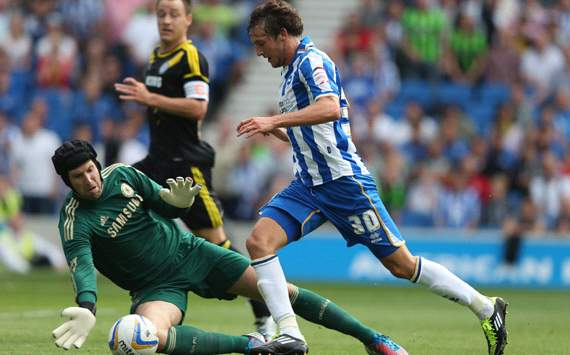 Petr Cech - Will Buckley, Brighton & Hove Albion v Chelsea - Pre Season Friendly
