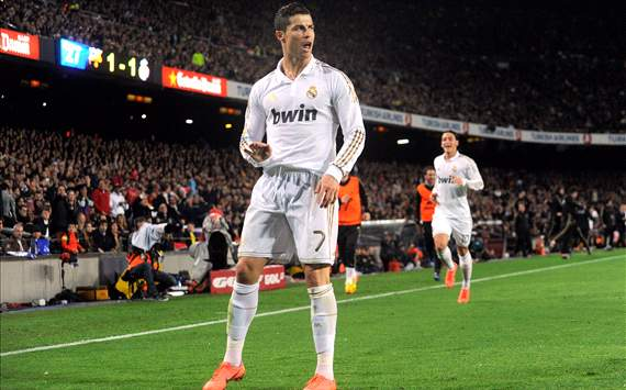 Cristiano Ronaldo at Camp Nou