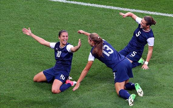 Carli Lloyd, Alex Morgan, Kelley O'Hara: USA women