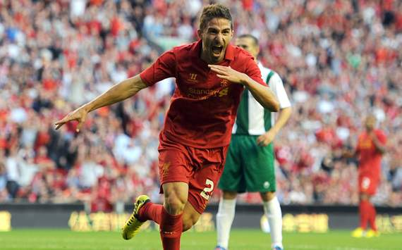 Europa League - Liverpool vs Gomel, Fabio Borini