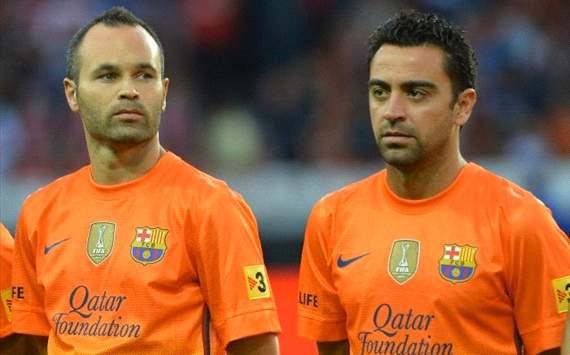 Andres Iniesta, Xavi Hernandez - FC Barcelona