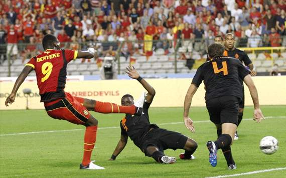 Benteke scores for Belgium against Netherlands