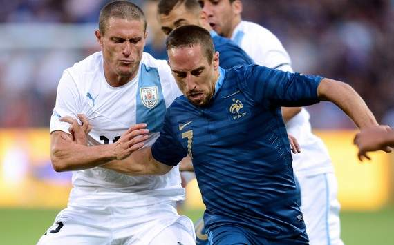 Friendly : Franck Ribery vs Diego Perez (France vs Uruguay)