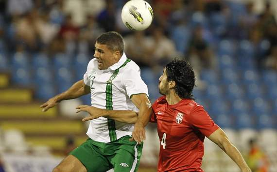 Serbia v Ireland, Jon Walters, Milan Bisevac