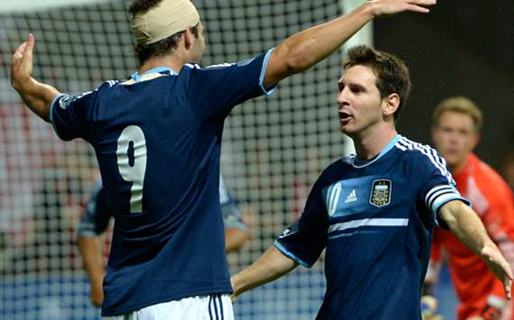 Germany v Argentina - International Friendly, Higuain and Messi