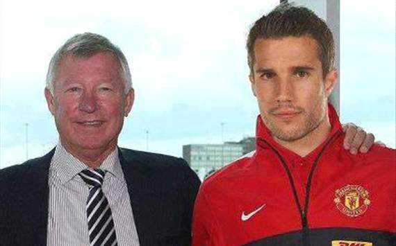 Manchester United ferguson and van persie photo