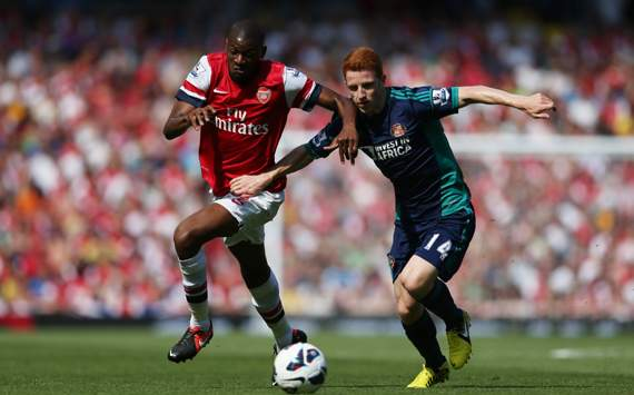  Abou Diaby, Jack Colback, Arsenal v Sunderland
