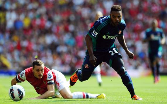 Arsenal v Sunderland, Thomas Vermaelen, Stephane Sessegnon