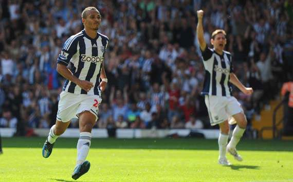 EPL; Peter Odemwingie, West Bromwich Albion v Liverpool 