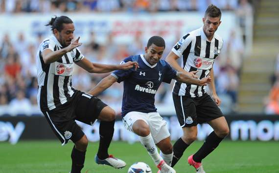EPL - Newcastle United v Tottenham Hotspur, Aaron Lennon, Davide Santon and Jonas Gutierrez